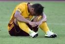 Nešťastník zápasu Martin Chlumecký (na obr.) si vstřelil dva vlastní góly.