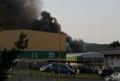 Požár v průmyslovém areálu Ravak.