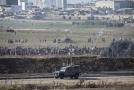 Protesty na hranicích Pásma Gazy.