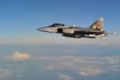 Na ilustračním snímku JAS-39 Gripen.