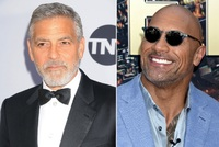George Clooney a Dwayne Johnson.