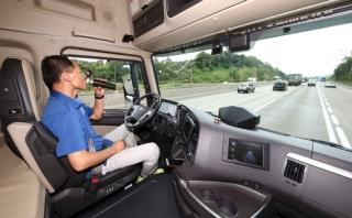 Interiér vozidla Hyundai Xcient.