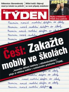 Obálka aktuálního čísla časopisu TÝDEN 36/2018.