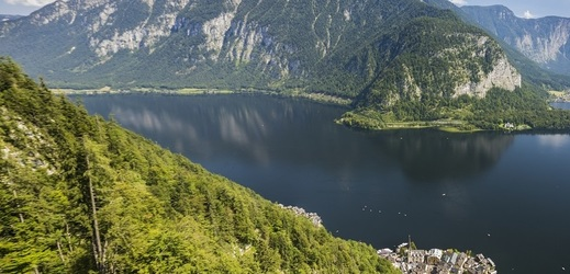 Halštatské jezero v Rakousku.