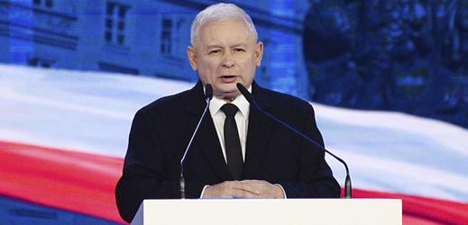 Šéf polské vládní strany Právo a spravedlnost Jaroslaw Kaczyński.