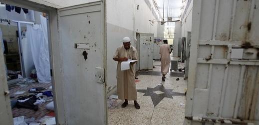 Libyjské vězení v Tripolisu.