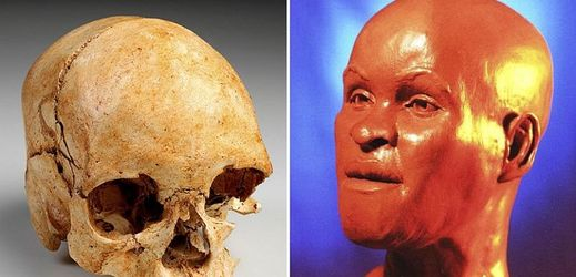 Jeden z nejcennějších artefaktů brazilského Národního muzea lebka Luzie, ženy která před téměř 12 tisíci lety žila na území dnešní Brazílie. Vpravo je rekonstrukce, jak mohla žena vypadat.