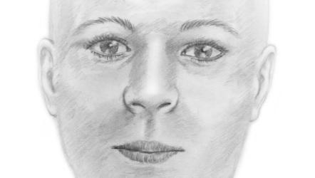 Pravděpodobný portrét ženy, jejíž ostatky nalezla německá policie.