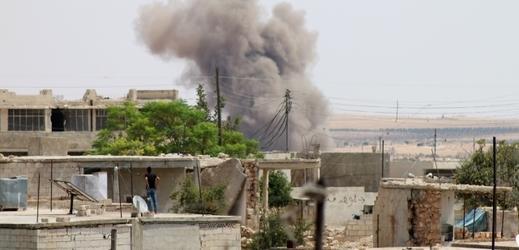 Bombardování v Sýrii.