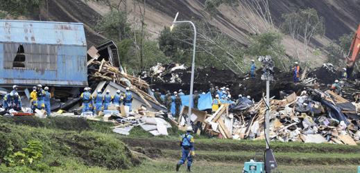 Následky zemětřesení v Japonsku (ostrov Hokkaidó).