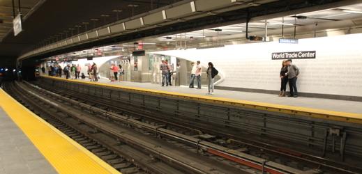 Stanice newyorského metra WTC Cortlandt.