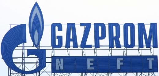 Logo společnosti Gazprom.