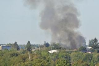Požár v Plzni.