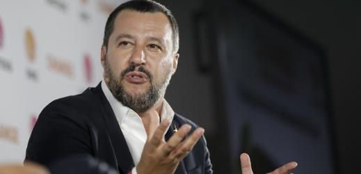 Italský ministr vnitra a šéf protiimigrační strany Liga Matteo Salvini.