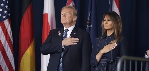 Trump se svou ženou Melanií uctili památku obětí 11. září.