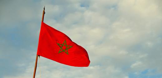 Vlajka Maroka.
