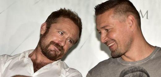 Zleva: americký herec Ben Foster a režisér Petr Jákl.