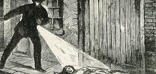 Ilustrace jednoho z těl nalezených na ulici.