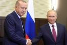 Vladimir Putin (vpravo) a Recep Tayyip Erdogan.