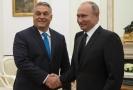 Vladimir Putin (vpravo) s maďarským premiérem Viktorem Orbánem.