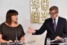 Premiér Andrej Babiš a ministryně financí Alena Schillerová.