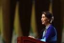 Nositelka Nobelovy ceny za mír Do Aun Schan Su Ťij.
