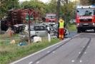 Po srážce auta s traktorem v Sasku se zranili čtyři Češi.