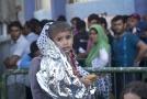 Jedno z dětí v uprchlickém táboře v Řecku.