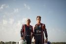 Jezdci Gabriele Tarquini a Thierry Neuville.