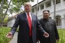 Americký prezident Donald Trump a vůdce KLDR Kim Čong-un.