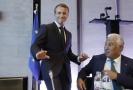 Francouzský prezident Emmanuel Macron (vlevo) a předseda portugalské vlády António Costa.
