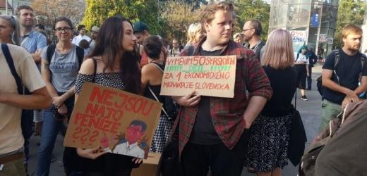 Protest v Praze.