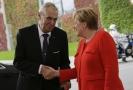 Prezident Miloš Zeman s německou kancléřkou Angelou Merkelovou.