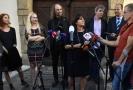 Europoslankyně Michaela Šojdrová a další členové jejího doprovodu hovořili s novináři po schůzce s premiérem Andrejem Babišem