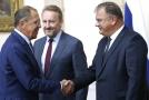 Sergej Lavrov (vlevo) na návštěvě v Bosně.