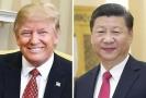 Čínský prezident Si Ťin-pching (vpravo) hlava USA Donald Trump.