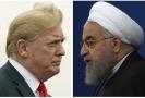 Íránský prezident Hasan Rúhání a hlava USA Donald Trump.