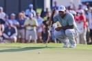 Americký golfista Tiger Woods na turnaji v Atlantě.