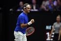 Švýcarský tenista Roger Federer na Laver Cupu.