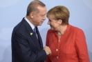 Turecký prezident Recep Tayyip Erdoğan a německá kancléřka Angela Merkelová.