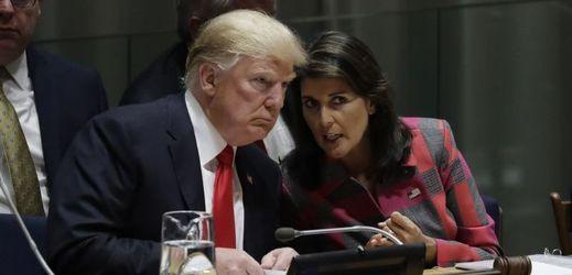 Americký prezident Donald Trump na mezinárodní konferenci OSN.