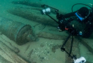 Vrak 400 let staré nalezené lodi.