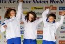 Trojice Tereza Fišerová, Kateřina Havlíčková a Gabriela Satková si dojely pro stříbro.