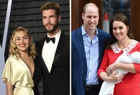 Miley Cyrus, Liam Hemsworth, vévodkyně Kate a princ William.
