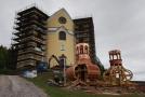 Rekonstrukce kostela úspěšně pokračuje (snímek z září 2018).