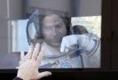 Astronaut Nick Hague před startem kosmické lodě Sojuz MS-10.