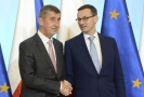 (Zleva) Andrej Babiš jednal ve Varšavě s polským premiérem Mateuszem Morawieckým.