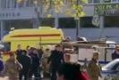 Záběr záchranné akce po vražedném útoku.