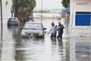 Záplavy v Tunisku.