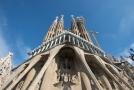 Katedrála Sagrada Familia v Barceloně.